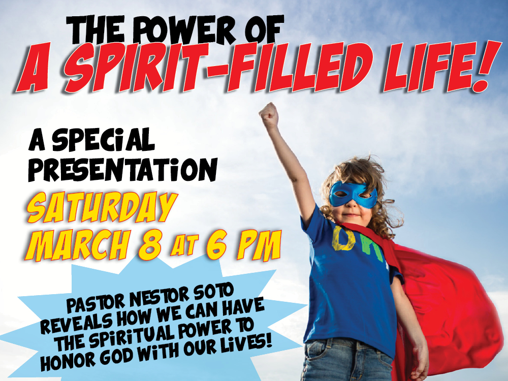 """A Spirit-Filled Life"" Special Presentation by Pastor Nestor @ The MACC 